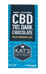 Kat's Natural Activated CBD Hemp Dark Chocolate