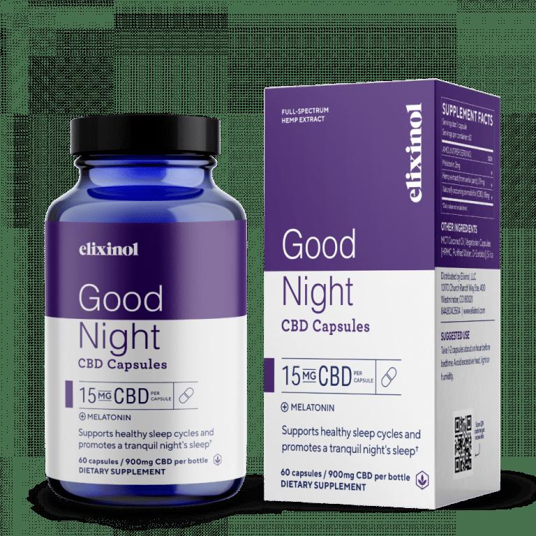 Elixinol CBD Good Night Capsules