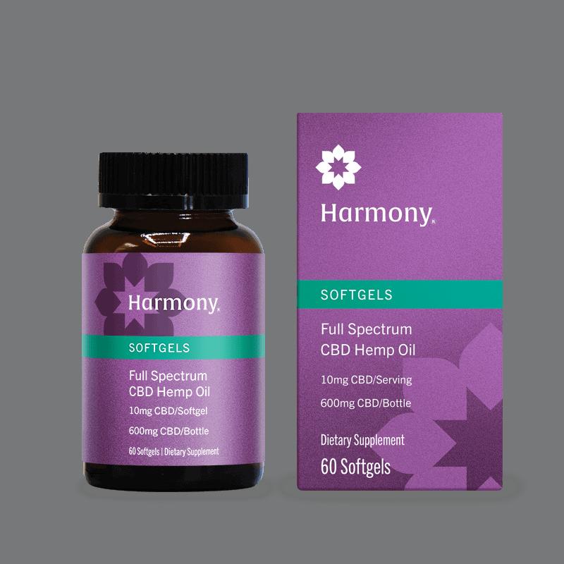 Palmetto Harmony CBD Softgels
