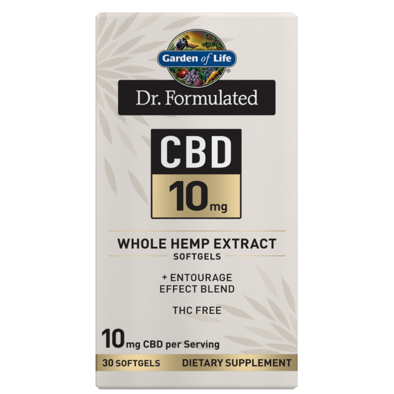 Garden of Life and Dr. Formulated CBD 10mg Softgels